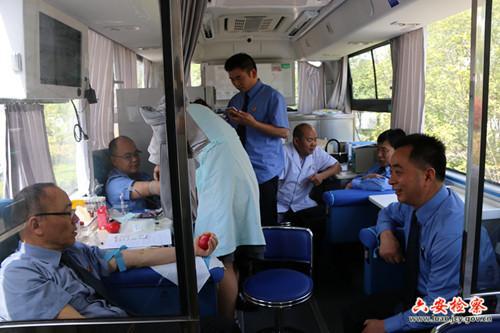 六安市检察院组织无偿献血
